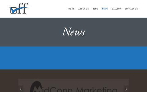 Screenshot of Press Page checkoff.com - News — CheckOff - captured July 7, 2016