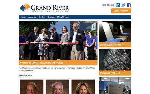 Screenshot of Team Page grandriverasepticmfg.com - Our Team   Grand River Aseptic Manufacturing - captured Nov. 2, 2014
