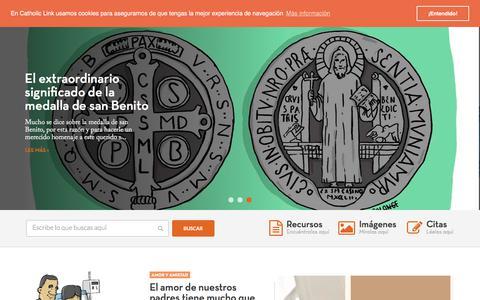 Screenshot of Home Page catholic-link.com - Catholic-link | Recursos para la Nueva Evangelización - captured July 16, 2018