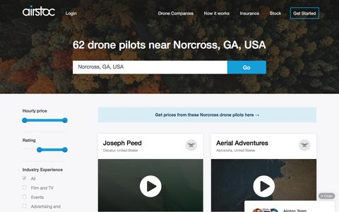 Screenshot of Home Page airstoc.com - Compare the Best Drone Companies  in Norcross, GA, USA — Airstoc.com - captured Aug. 16, 2016
