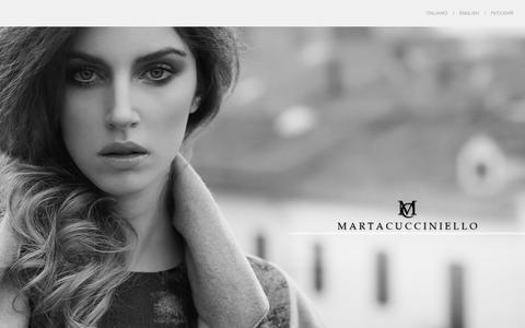 Screenshot of Home Page martacucciniello.com - MARTACUCCINIELLO - captured Sept. 30, 2014