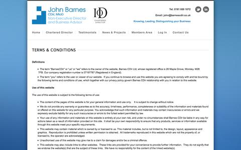 Screenshot of Terms Page barnescdir.co.uk - Terms & Conditions   Barnes CDIR LTD - captured Oct. 5, 2014