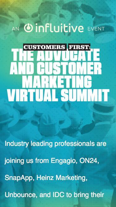 Advocate and Customer Marketing Virtual Summit
