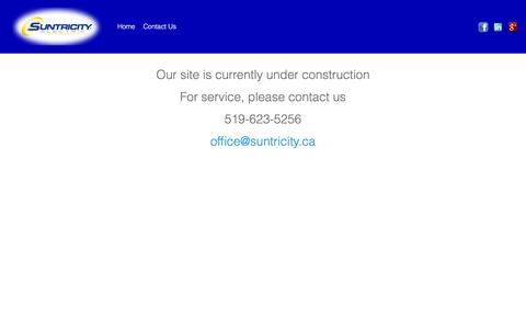 Screenshot of Home Page suntricity.ca - Suntricity Electric – Official Site for Suntricity Electric Cambridge Ontario - captured Dec. 3, 2016