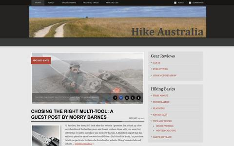 Screenshot of Home Page hike-australia.com - Hike Australia | Day, Overnight and Multi-day hiking in Australia - captured Oct. 9, 2015