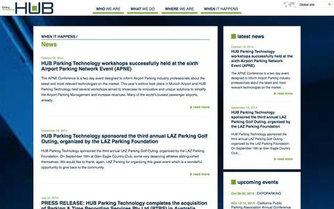 Screenshot of Press Page zeag.com - News - captured Oct. 27, 2014