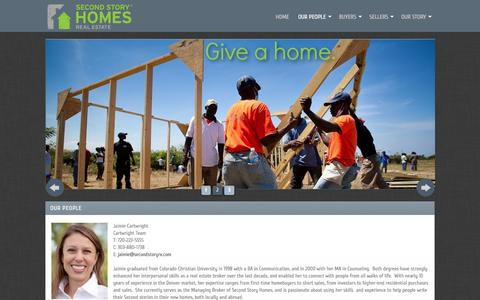 Screenshot of Team Page secondstoryre.com - Contact Information for Second Story Homes Real Estate - captured Feb. 4, 2016