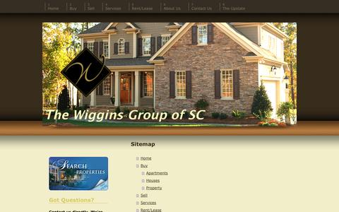 Screenshot of Site Map Page thewigginsgroupofsc.com - Upstate Real Estate - The Wiggins Group of SC - the Upstate's Real Estate Choice - captured Oct. 27, 2014