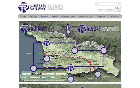 Screenshot of Maps & Directions Page grt.ge - Georgian Railway Telecom - captured Oct. 2, 2014