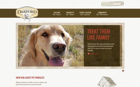 Screenshot of Home Page darford.com - Darford | Culture - captured Oct. 5, 2014