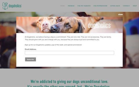 Screenshot of Home Page dog-a-holics.com - Dog-a-holics - captured Nov. 11, 2016