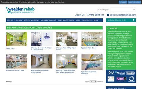 Screenshot of Case Studies Page wealdenrehab.com - Create New Customer Account | Wealden Rehab - captured June 17, 2017