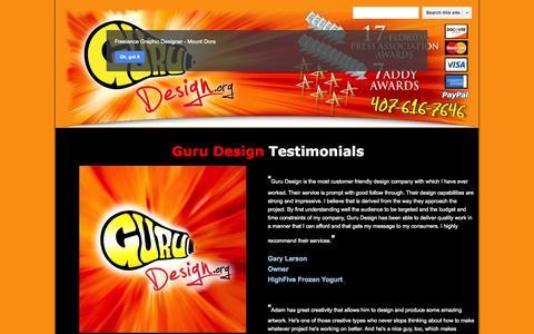 Screenshot of Testimonials Page google.com - Testimonial Page - Mount Dora - Freelance Graphic Design - captured Oct. 27, 2014