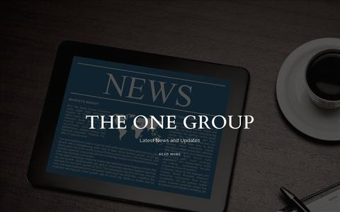 Screenshot of Press Page theonegroup.co - Latest News from The ONE Group Dubai - captured Feb. 22, 2016
