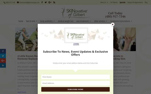 Screenshot of Blog gilbertmedspa.com - SKINovative Medical Aesthetic & Weight Loss Blog Articles - captured Sept. 30, 2018
