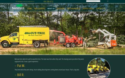 Screenshot of Testimonials Page 404cuttree.com - Testimonials - Tree Services Atlanta | Tree Removal in Atlanta, GA | Tree Trimming & Pruning | 404-CUT-TREE - captured Oct. 20, 2018