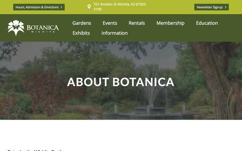 Screenshot of About Page botanica.org - About Botanica – Botanica - captured Aug. 3, 2018