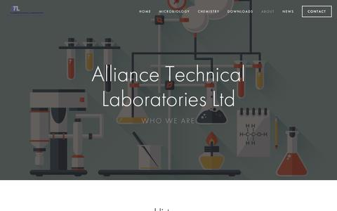 Screenshot of About Page alliancetechnical.co.uk - About — ATL - captured Nov. 20, 2016