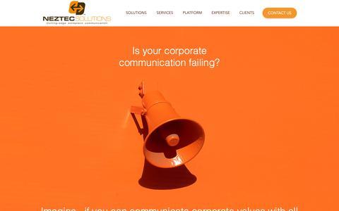 Screenshot of Home Page neztecs.com - Neztec Official Site - captured Oct. 20, 2018