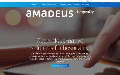 Screenshot of Home Page amadeus-hospitality.com - Amadeus Hospitality - captured Jan. 12, 2018