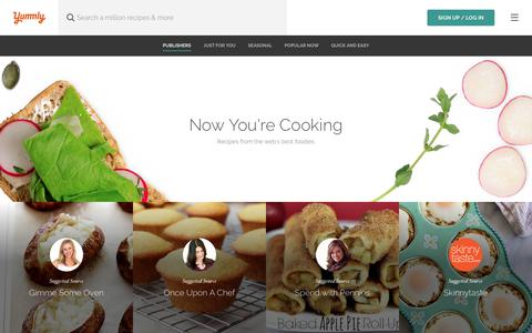Screenshot of Home Page yummly.com - Yummly: Personalized Recipe Recommendations and Search - captured July 14, 2017
