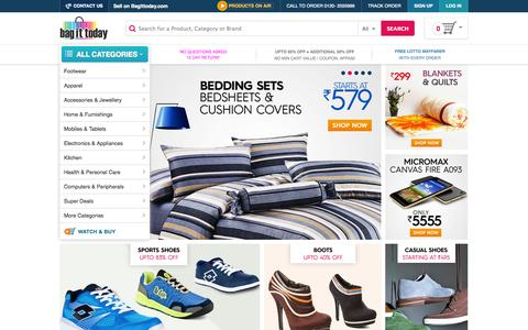 Screenshot of Home Page bagittoday.com - Online Shopping India | Online Deals | Discount Shopping India - captured Sept. 18, 2014
