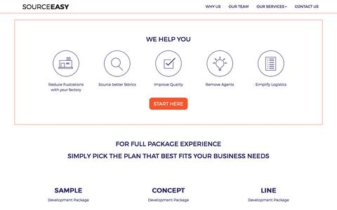 Screenshot of Services Page sourceeasy.com - Bring your vision to life. | Sourceeasy - captured April 20, 2016