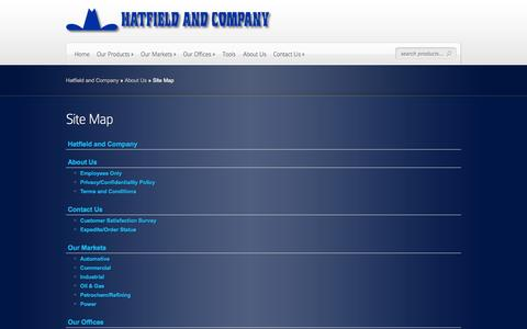 Screenshot of Site Map Page hatfieldandcompany.com - Site Map | Hatfield and Company - captured Oct. 2, 2014