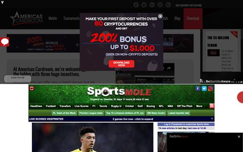 Screenshot of Home Page sportsmole.co.uk - Sports Mole - Football, tennis, rugby, cricket, boxing, transfer news, rumours and gossip - captured March 21, 2019