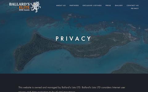 Screenshot of Privacy Page ballardselite.com - Ballard's Elite — Ballard's Elite - captured May 31, 2017