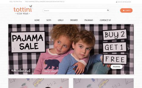 Screenshot of Home Page tottini.com - Home - Tottini Kidswear - captured Nov. 7, 2017