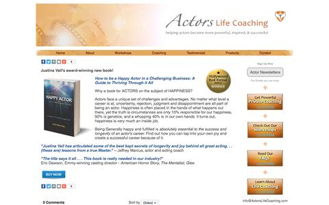 Screenshot of Products Page actorslifecoaching.com - Actors Life Coaching: Products - captured May 29, 2017