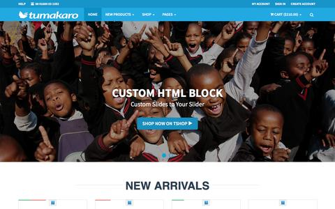 Screenshot of Signup Page tumakaro.com - TSHOP - Bootstrap E-Commerce Parallax Theme - captured March 13, 2017