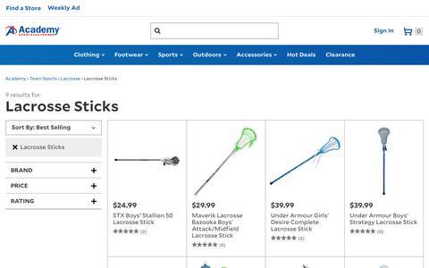 Lacrosse Sticks | Men's, Women's and Girls' Lacrosse Sticks | Academy