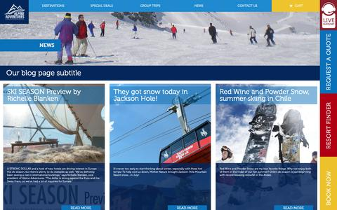 Screenshot of Press Page alpineadventures.net - News - Alpine Adventures - Luxury Ski Vacation Travel Booking & PackagesAlpine Adventures – Luxury Ski Vacation Travel Booking & Packages - captured Oct. 3, 2018