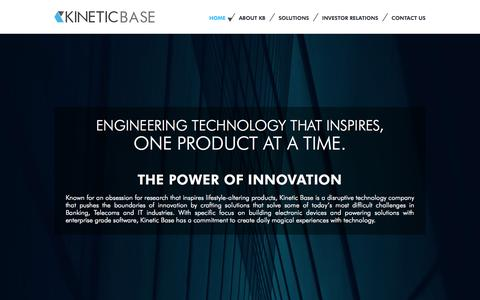 Screenshot of Home Page kineticbase.com - KINEITIC BASE - captured Oct. 6, 2014