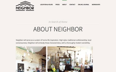 Screenshot of About Page iloveneighbor.com - About Neighbor - Neighbor | Neighbor - captured Oct. 26, 2014