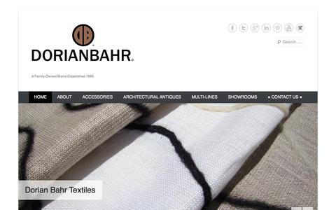 Screenshot of Home Page Menu Page dorianbahr.com - | A Family-Owned Brand Established 1995 - captured Sept. 30, 2014