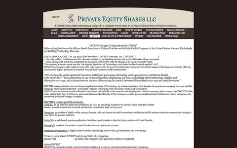 Screenshot of Press Page privateequityshares.com - PRIVATE EQUITY SHARES - captured Sept. 26, 2014