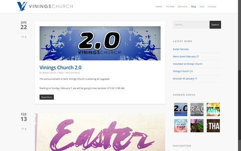 Screenshot of Blog viningschurch.com - Blog - Vinings Church - captured Feb. 24, 2016