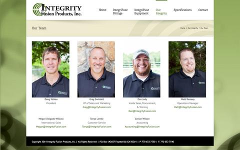 Screenshot of Team Page integrityfusion.com - Integrity Fusion Our Team - Integrity Fusion - captured Oct. 6, 2014