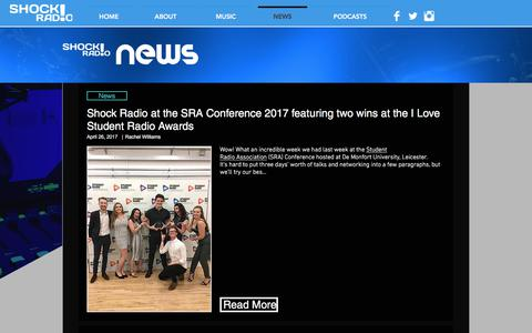 Screenshot of Press Page shockradio.co.uk - shockradio | NEWS - captured June 16, 2017