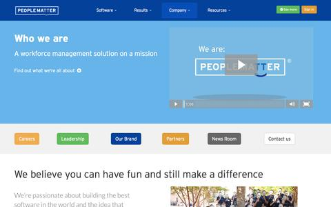 Screenshot of About Page peoplematter.com - PeopleMatter - A Progressive Company Pushing HR Forward - captured Nov. 20, 2015