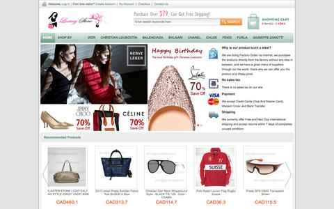 Screenshot of Home Page kingstonbuzz.ca - Cheap Christian Dior Sunglasses For Sale, Discount Christian Dior Handbags Outlet Canada - captured Oct. 6, 2014