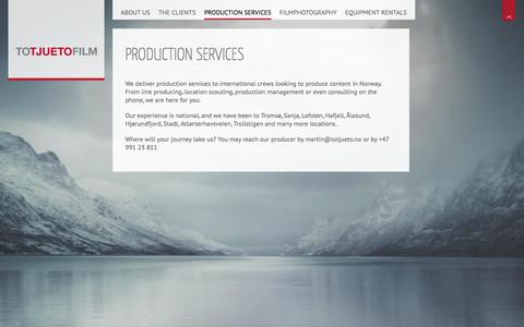 Screenshot of Locations Page totjueto.no - Production services | Totjueto Film - captured Oct. 7, 2014