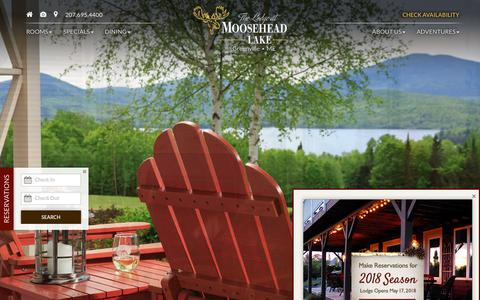 Screenshot of About Page Maps & Directions Page lodgeatmooseheadlake.com - Moosehead Lake | One of a Kind Experience Maine Resort - captured Jan. 27, 2018