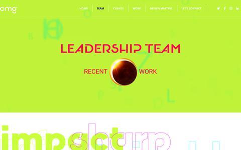 Screenshot of Team Page cmg.design - Team – CMg Design, Inc. - captured July 7, 2018