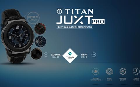 Screenshot of Home Page titan.co.in - Titan Company Online Shopping : Shop for Jewellery, Watches, Sunglasses, Perfumes, Accessories from Our Official Online Store @ Titan.co.in - captured Aug. 22, 2016