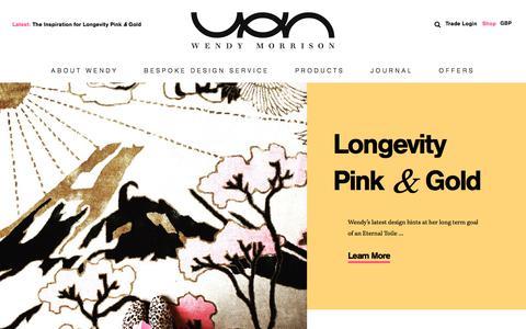 Screenshot of Home Page wendymorrisondesign.com - Beautiful, handmade rugs by Wendy Morrison. - captured Sept. 21, 2018