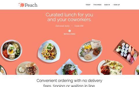 Screenshot of Home Page peachd.com captured Dec. 13, 2014